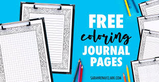 Free Printable Coloring Journal Pages Sarah Renae Clark Coloring