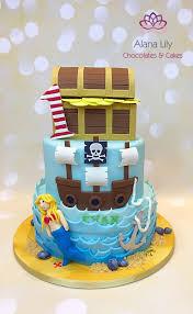 Pirate Themed Birthday Cake Cake By Alana Lily Chocolates Cakes