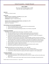 school counselor resume  job proposal sample