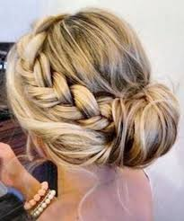 French Braid Updo Hairstyles Pull Your Hair Beach Into Two Thick French Braids And Twist The