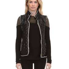 Fate Faux Leather Quilted Vest in Black from Glik's | Vest & Fate Faux Leather Quilted Vest in Black FTP2181-BLACK Adamdwight.com