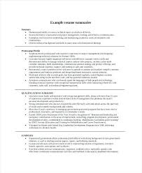 Summary For Resume Examples Awesome Career Summary Resume Example Brave28