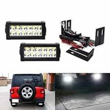 ijdmtoy jeep wrangler jl double row 7 in led light bars rear ijdmtoy jeep wrangler jl double row 7 in led light bars rear bumper mounting brackets wiring black dog mods