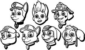 Chase Paw Patrol Coloring Page Coloring Pages For Kids