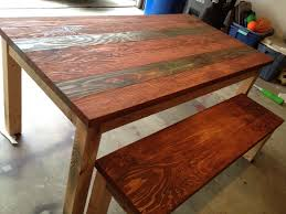 long wood dining table: make your own brown reclaimed wood dining table with bench diy rectangle reclaimed wood dining
