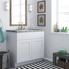Stone Grey Shaker Bathroom Vanities RTA Cabinet Store Beautiful