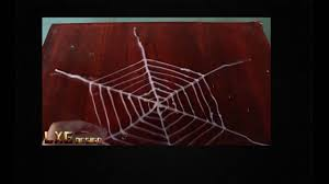 How to make a spider web using hot glue