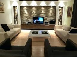 tv lounge furniture. Sofa For Tv Lounge Designs Rectangular Shaped Ivory Brown Colour Leather Square Table Furniture D