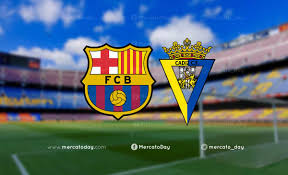 Live broadcasts   Watch Barcelona and Cadiz match in Spanish League  (finished)
