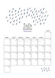 November 2020 Calendar Clip Art November Stock Illustrations 93 675 November Stock