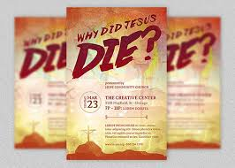 Why Did Jesus Die Church Flyer Template On Behance
