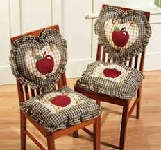 4 pc country plaid check red apple heart square kitchen chair cushions pad decor in home garden yard garden outdoor living patio garden furniture