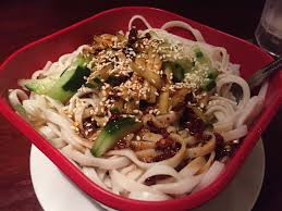 the north sichuan cold noodle is awesome numb spicy but not too hot delightfully al dente cold chewy with crunchy cuber and a to for szechuan