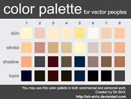 Skin Tone Color Palette Design In Vector Eps Format In 2019