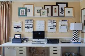 organized office space. I Was Even Able To Incorporate The Existing Drapes And Chandelier That Were There From When This Space Just A Dining Room. Organized Office