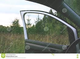 modern car with open door