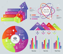 Percentage Diagram Set Can Be Used For Infographic Design Statistics