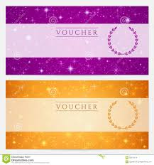 gift certificates format gift certificate voucher coupon template stars stock vector