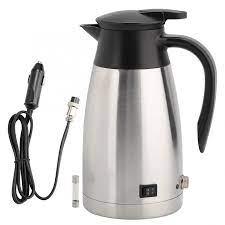 1000ml 12V 24V araba su ısıtıcısı elektrikli ısıtıcı su ısıtıcısı Pot  taşınabilir SU ISITICI evrensel|Electric Kettles