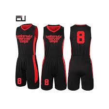 customized brand men s basketball team sport jersey set black red 2093