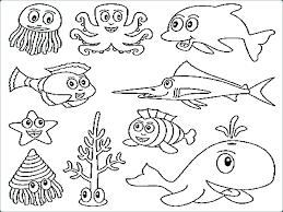 Coloring Pictures Ocean Animals Psubarstoolcom