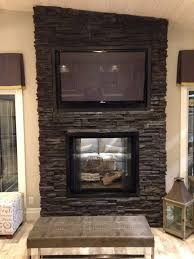 modern gas fireplace with tv