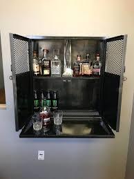industrial steel locking liquor cabinet
