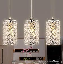 crystal mini pendant lighting for kitchen modern ceiling