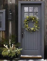 grey front door32 Bold and Beautiful Colored Front Doors  Amazing DIY Interior