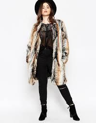men in bow ties and fur coats you asos faux fur overcoat