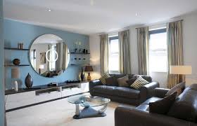 room interior and decoration medium size african living room decor in blue wall and black leather