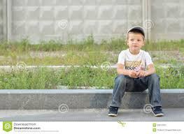Image result for free photo of boy sitting on a curb