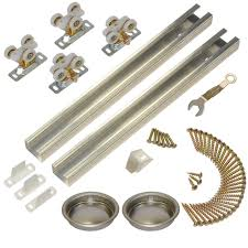 johnson hardware 111sd series 60 in track and hardware set for 2 door bypass