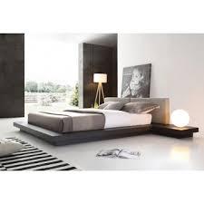 platform bed with nightstand. Modrest Opal Modern Wenge \u0026 Grey Platform Bed With Nightstand 2