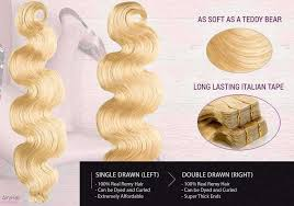 Remy Invisible Tape In Hair Extensions Straight Curly