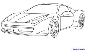 Dessins Coloriage Ferrari Imprimer Dessin Colorier Voiture Audi