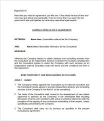 Consulting Contract Template Free Download 5 Consulting Contract Templates Free Word Pdf Documents