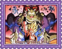 Dragon Ball Z Decorations Dragon Ball Z Edible Birthday Cake OR Cupcake Topper Edible 58