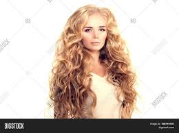Hairstyles Female Hair Loss Model With Long Hair Blonde Waves Curls Hairstyle Hair Salon Updo
