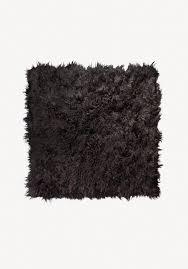 black sheepskin rug. Large Icelandic Sheepskin Rug - Black E