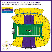 Ecu Football Stadium Seating Chart Google Search