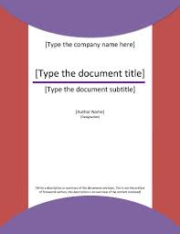 report cover page templates for ms word purple circles abstract template design