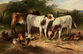 painting name farmyard painter name walter hunt
