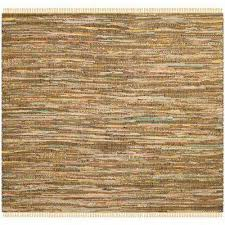rag rug yellow multi 6 ft x 6 ft square area rug