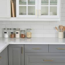 Inspiring White Subway Tile In Kitchen and Installing A Subway Tile  Backsplash In Our Kitchen The Sweetest Digs
