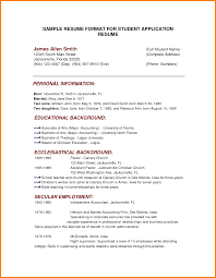 3 Basic Student Sample Resume Cashier Resumes