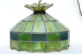 antique stained glass hanging lamp shades vintage pendant lighting