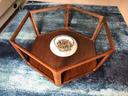 excellent condition hexagon coffee table for