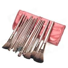 mea 325 4 professional 18 in 1 cosmetic makeup brushes set indian red