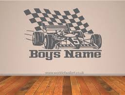 wall art design ideas personalized f1 racing race car